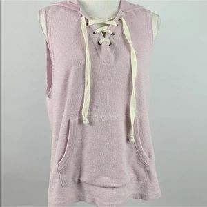 Alternative Apparel Sleeveless Sweatshirt Pink